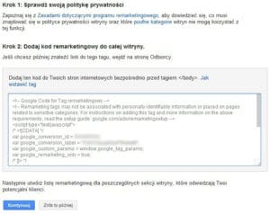 Kod Remarketingowy Google Ads