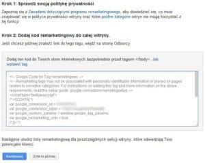 Kod Remarketingowy Google Ads
