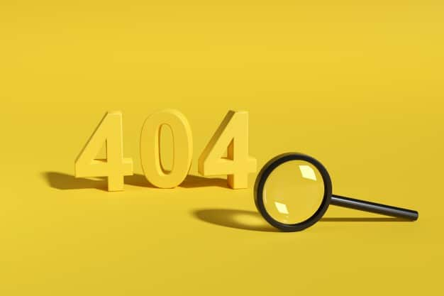 Błąd 404 — co możesz z tym zrobić