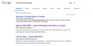 Sprawdzenie indeksacji w google