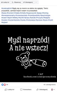 Pomysły na nagażujace posty na facebooku - cytaty