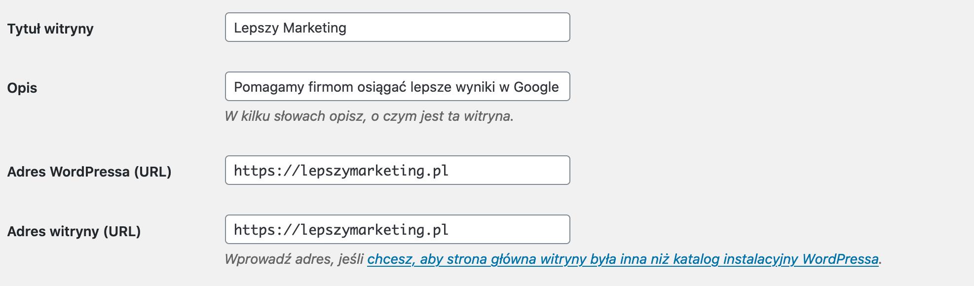pozycjonowanie strony internetowej wordpress