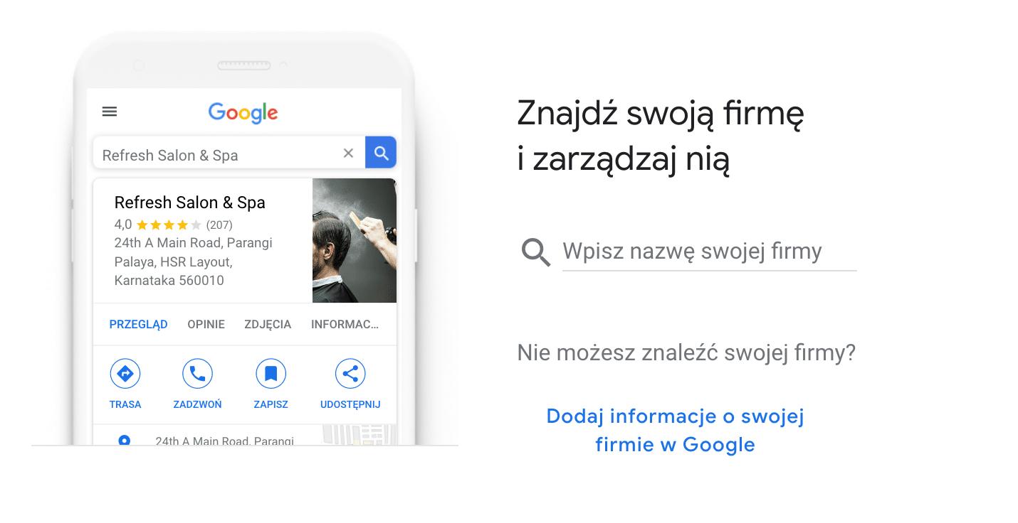 dodawanie firmy do google - Pierwsze Kroki