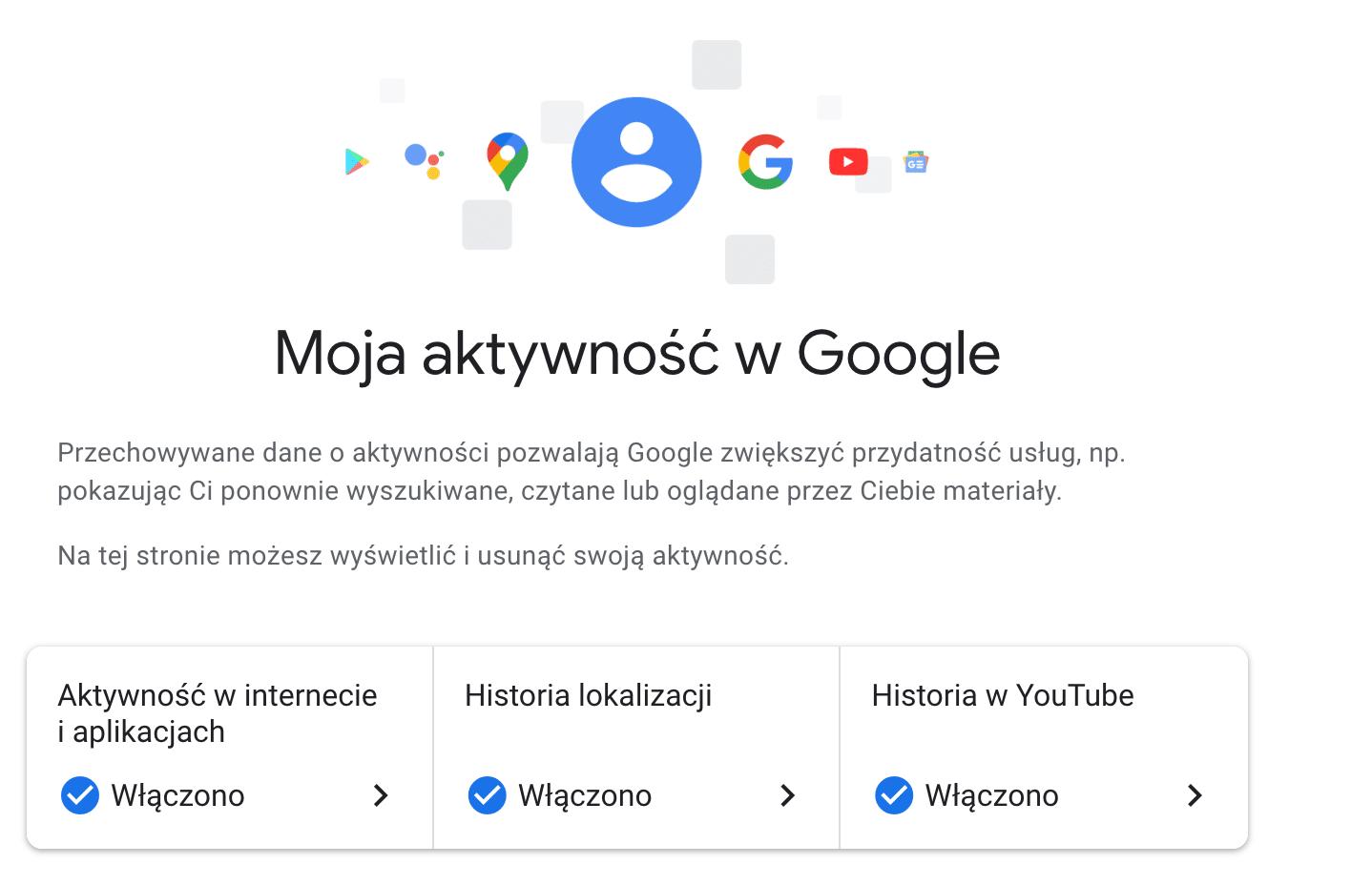 Historia Wyszukiwania Google - Moja aktywność w Google