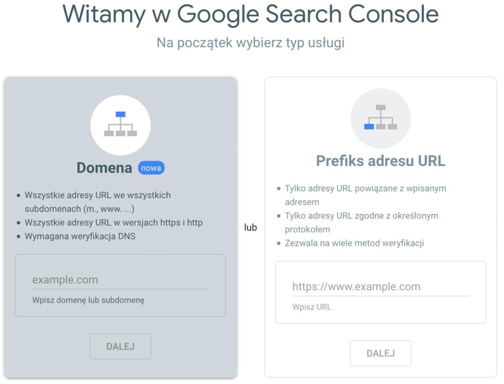 Jak dodąć stronę do Google Search Console