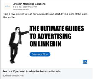 Sponsorowana treść na Linkedin