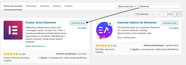Pozycjonowanie WordPress - Elementor Kreator Stron