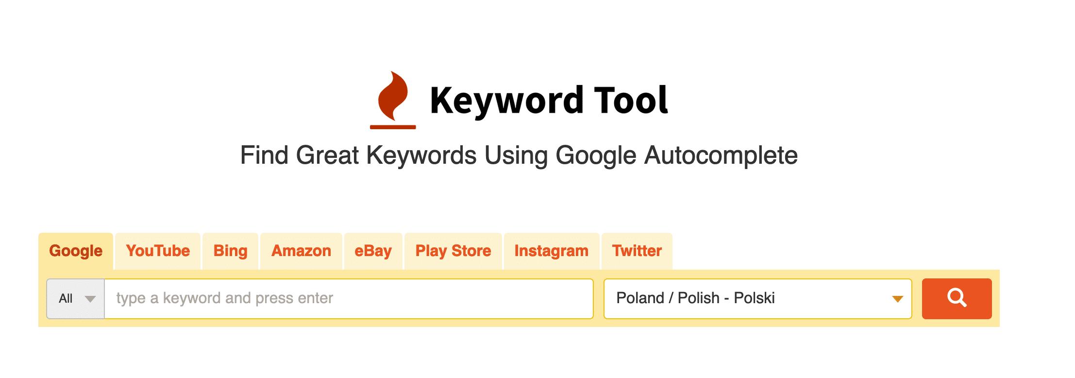 Analiza Słów Kluczowych w keywordtool.io