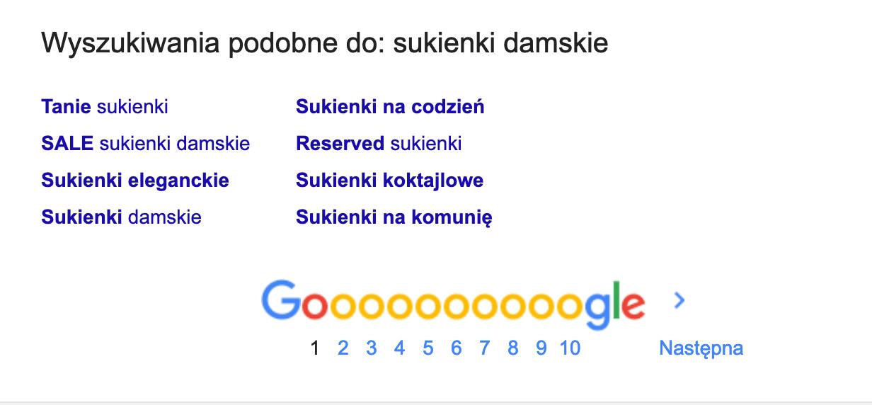 Analiza Słów Kluczowych - Podpowiedzi wyszukiwarki