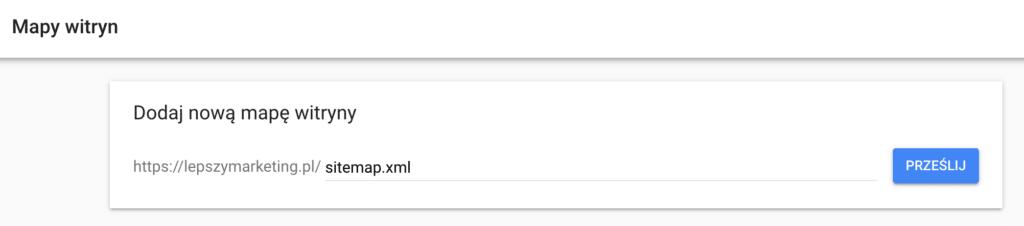 jak dodać sitemape do google search console