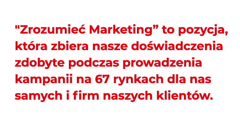 przykład zachęty w landing page - zrozumieć marketing