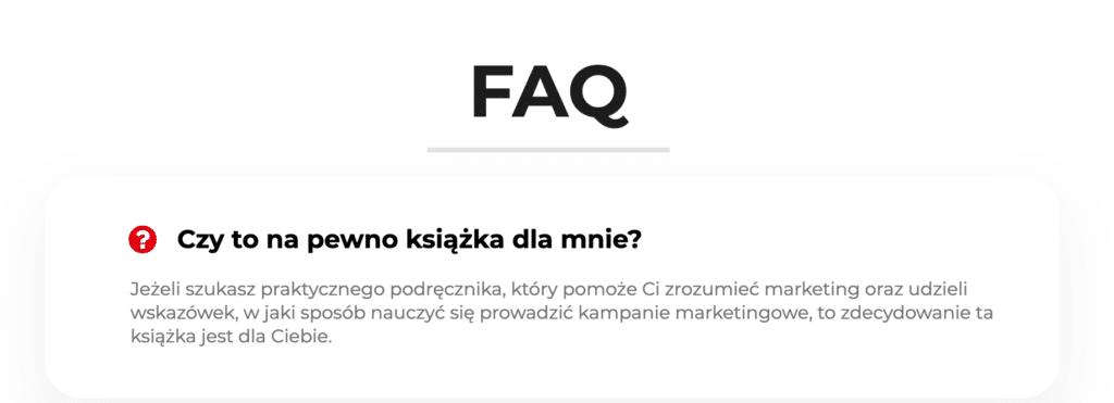 FAQ na dedykowanym Landing Page